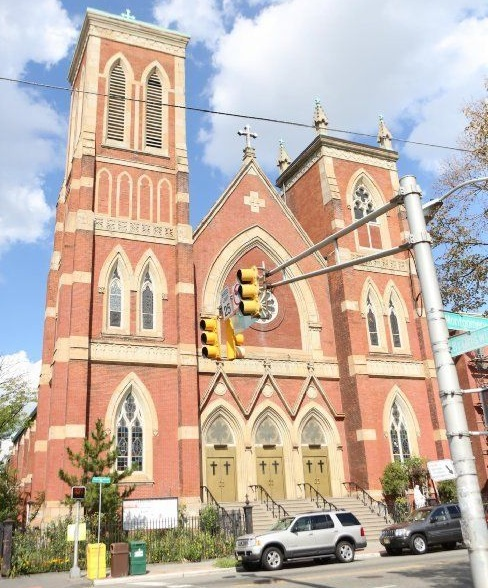 Exterior of St. Bridget Catholic Church before it was closed.