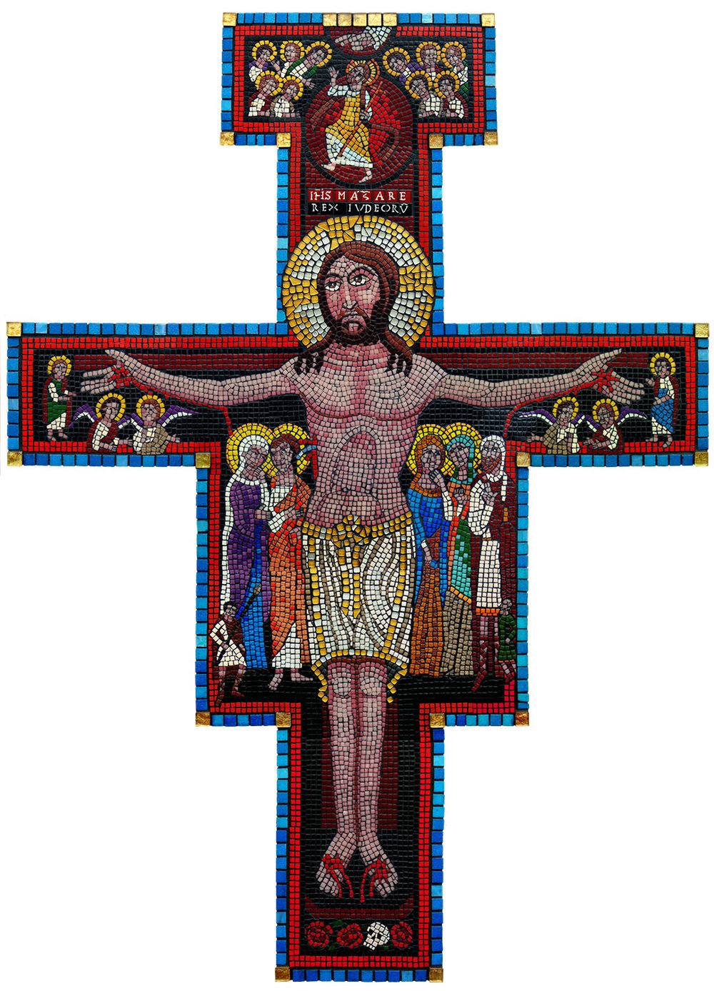 My final mosaic reproduction of the San Damiano Cross.