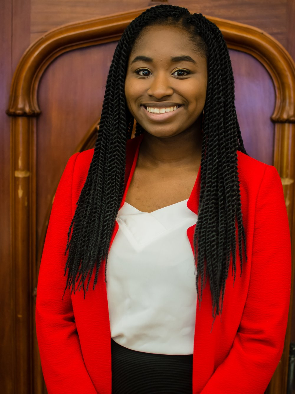 Hawa Maiga -USG Public Relations - Meet Hawa, your Director of Public Relations for McMUN 2019! Born and raised a Montreal local, Hawa went to Marianopolis College in Honors Health Science, during which she found her passion in International Relations and Diplomacy after attending McMUN twice as a delegate. In her first year at McGill, Hawa served as the Food & Local Sponsorship Coord for McMUN 2018 and represented McGill at BarMUN and NaMUN, taking home a Best Delegate award. Today, she's in her second year of pursuing a degree in International Development Studies and Political Science at McGill University, where she serves as the President of Amnesty International to best fulfill her passion for Human Rights and Development. When not in McGill, you can find Hawa working at the municipal library in Ville de Sainte-Catherine, eating Ben & Jerry's with her friends (ask her about the Bernie Sander's flavor), or tuning out to the various educational programs on TLC (The Learning Channel).