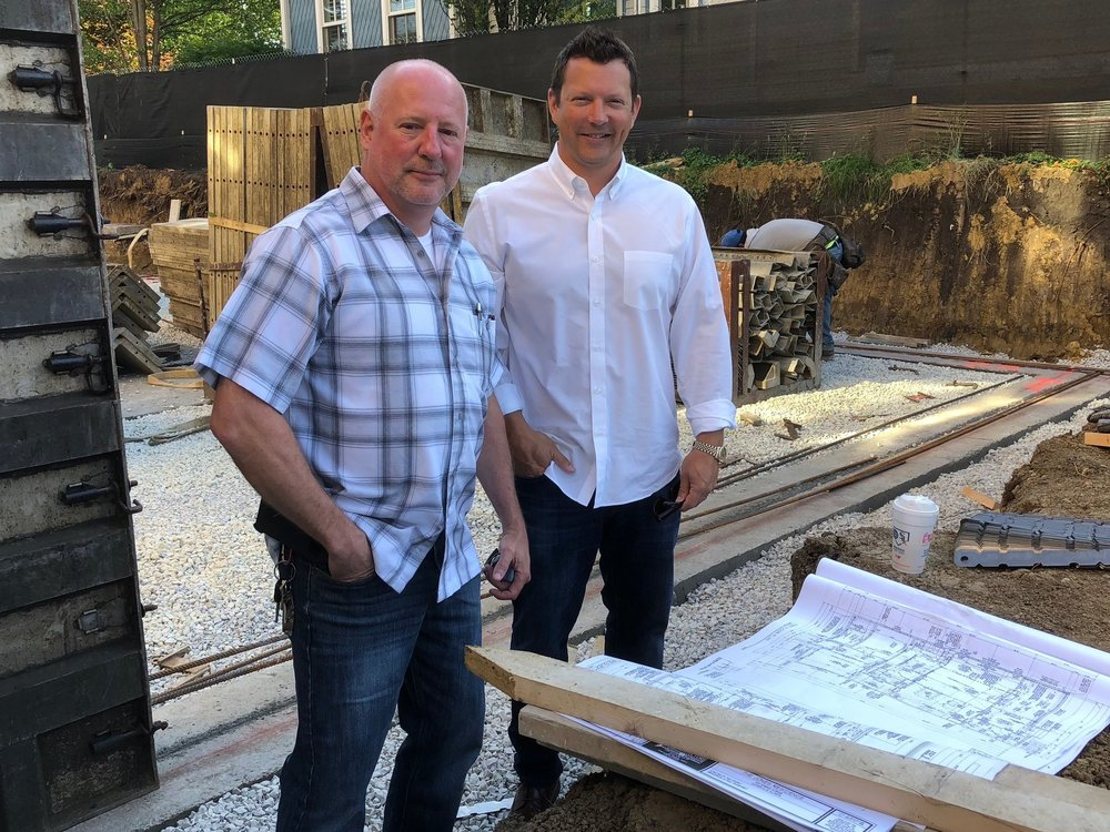 Mark Lindsey, Project Supervisor with Chad Mease, Company Owner