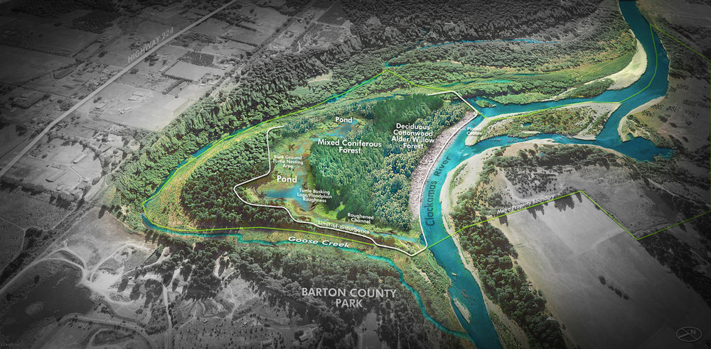 River Island Restoration Project, ACEC Oregon, Honor Award, 2018