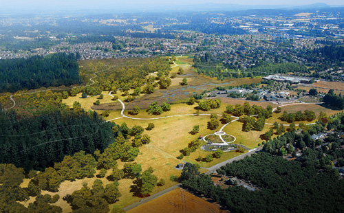 Birdseye Rendering of Graham Oaks Nature Park