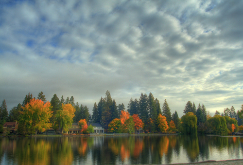 Mirror Pond in Bend, Oregon