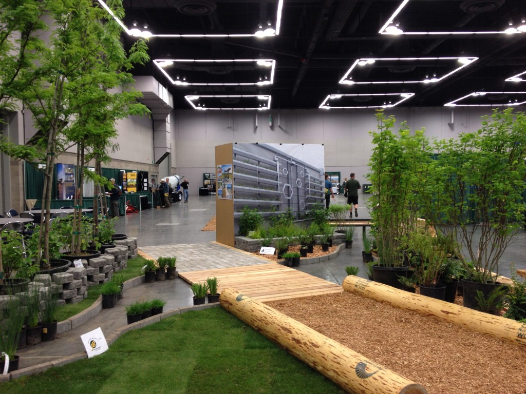 Design and construction by GreenWorks, PC with help from Mutual Materials (pavers), Sustainable Northwest Wood (logs and wood materials), and Cedar Landscaped with Chehalem Mountain Nurseries (plants and trees).