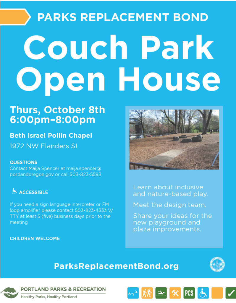Couch Park flyer 2015.10.08