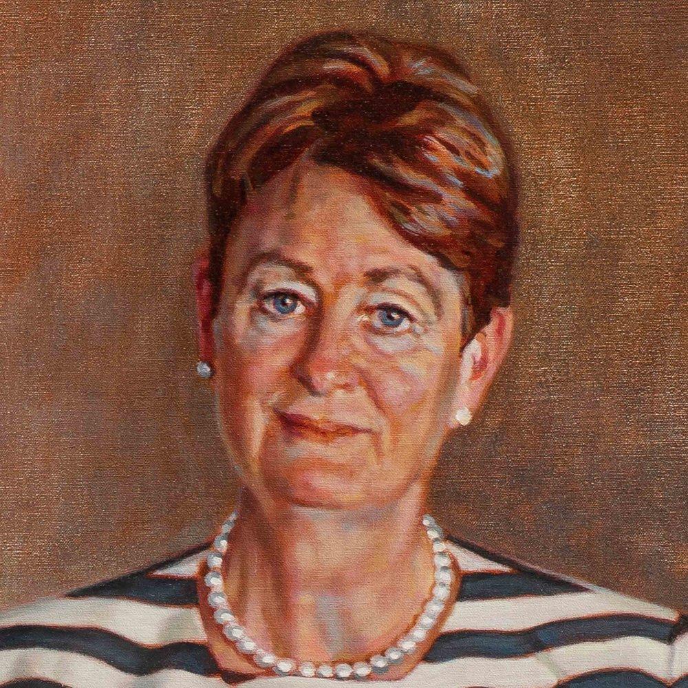 Catherine Livingstone AO (2018 - 206x127cm, Oil on Linen) web detail.jpg