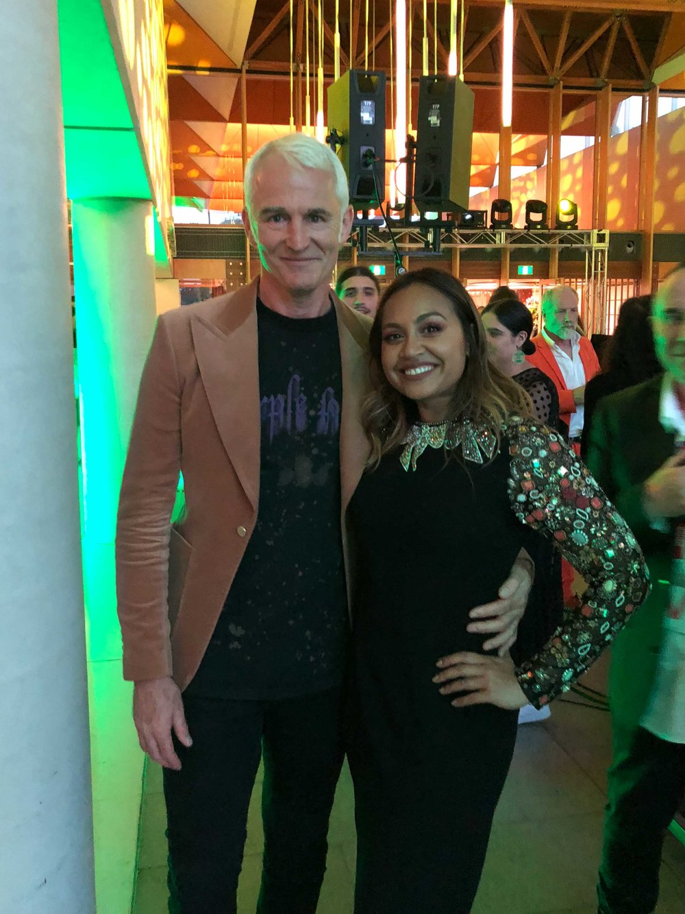 With Jessica Mauboy, 20/20 subject and performer on the night