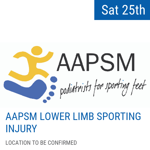 Case studies from the athlete's and clinician's perspective  Saturday 25 May, 2019  Free event for AAPSM members and conference delegates (space limited)  Location and event time to be confirmed  Sign up for the workshop  here