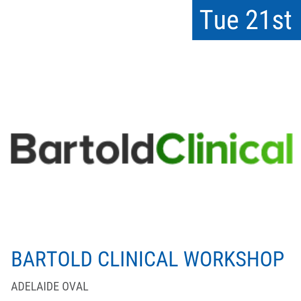 Conquering the big 4: heel pain, knee pain, Achilles pain and shin pain. New concepts and treatment options  Tuesday May 21, 2019 - 9:00am - 4:30pm   CPD 8 hours  Location: Adelaide Oval  Sign up for the workshop  here