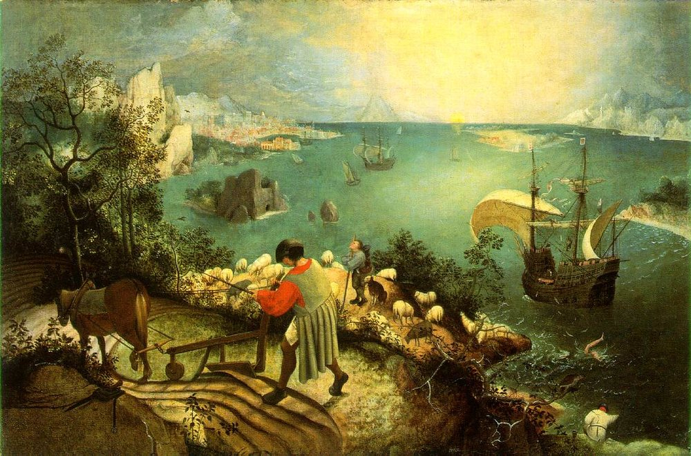 Breughel's Icarus (read about it  here )
