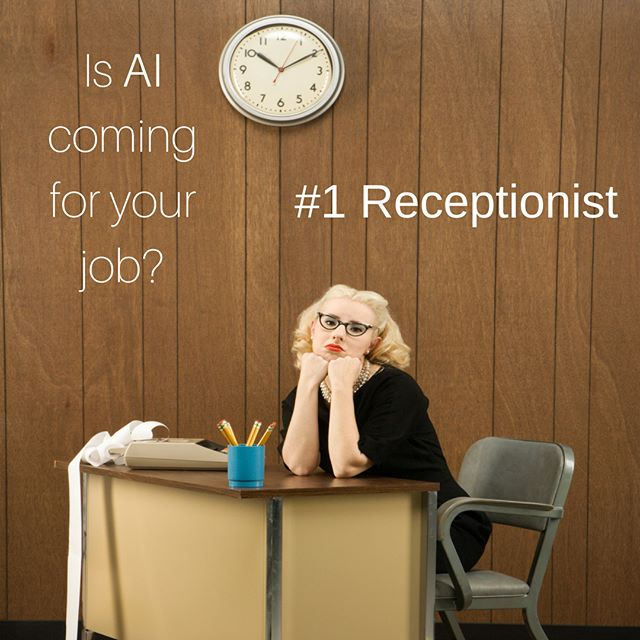 Automated phone and scheduling systems can replace a traditional receptionist.  Sure, but can they smile and welcome clients and make them feel warm and fuzzy?  #AI  #artificialintelligence  #disruption  #disruptionandyou