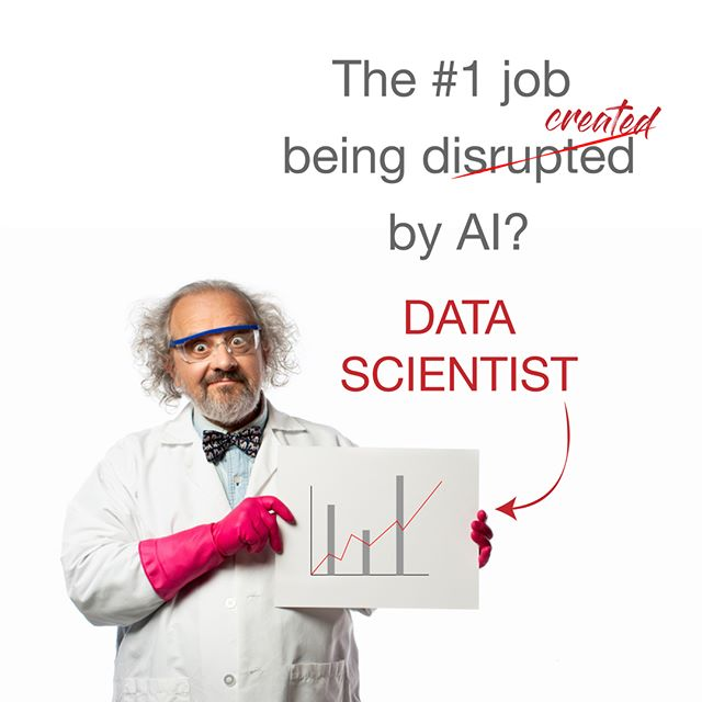 Opinion seems to vary wildly on this.  Your thoughts?  #datascientists #ai #artificialintelligence #machinelearning #disruption #futureofwork