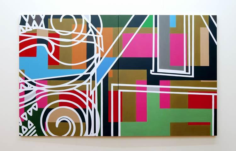 Vocoder   ,  2013  |  Acrylic on linen, 1676 x 2744mm
