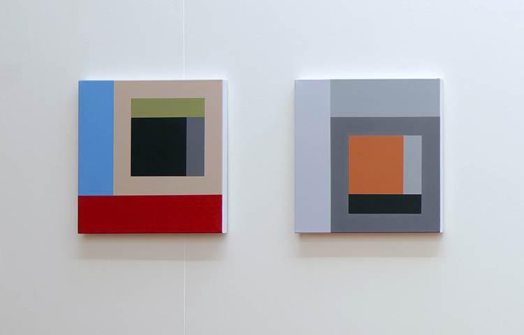 Q.P.R. / The Soft Moon,   2012 |  Acrylic on linen, 450 x 450mm each