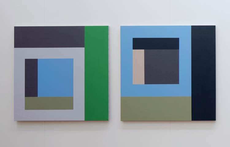 Roland / Korg,   2012 | Acrylic on linen, 936 x 936mm