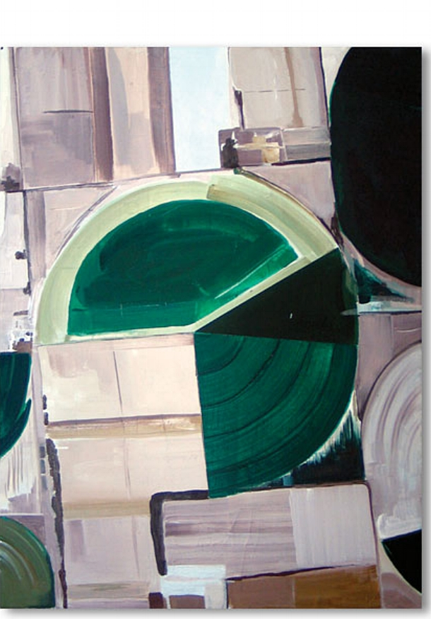 Golden Circle,   2008 | Acrylic on linen, 600 x 450mm,  Private Collection