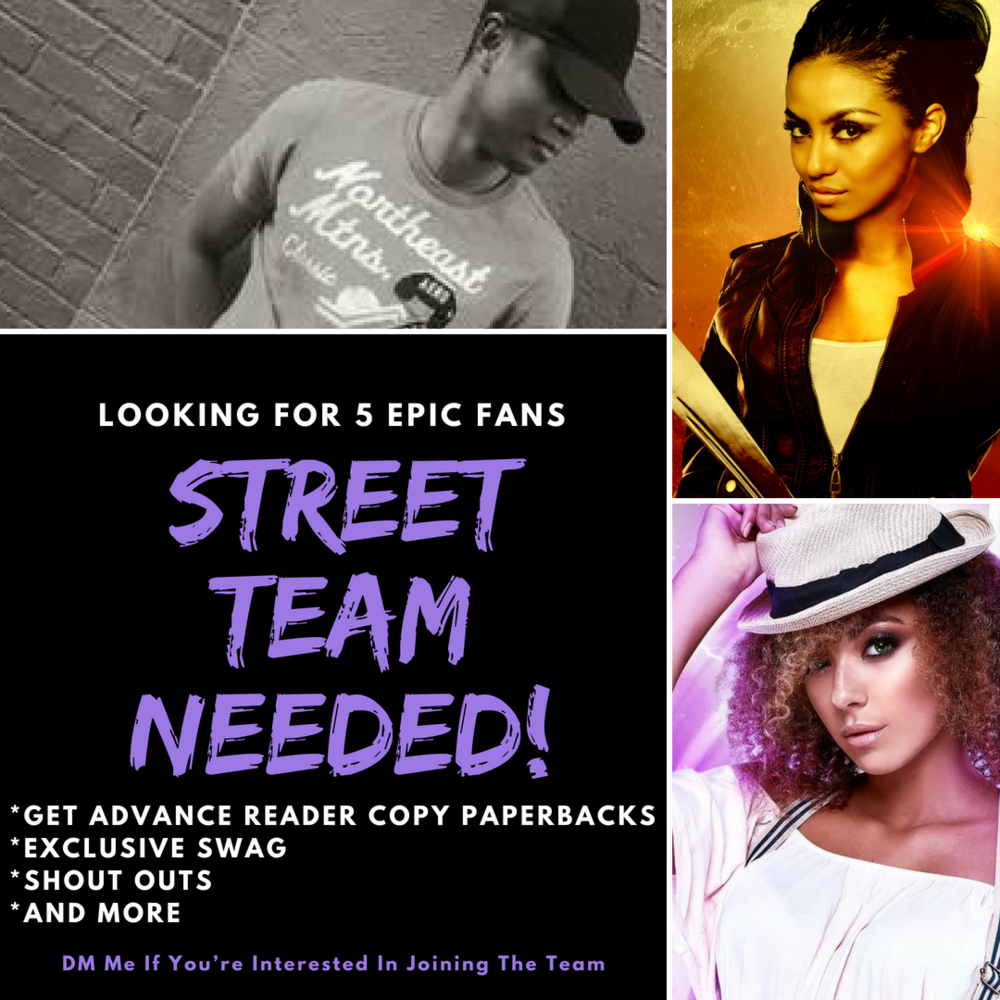"If you would like to be considered for the Street Team, Please email me at Author@sylvesterbarzey.com put ""Street Team"" as the subject of the email. I can't wait to hear from you."