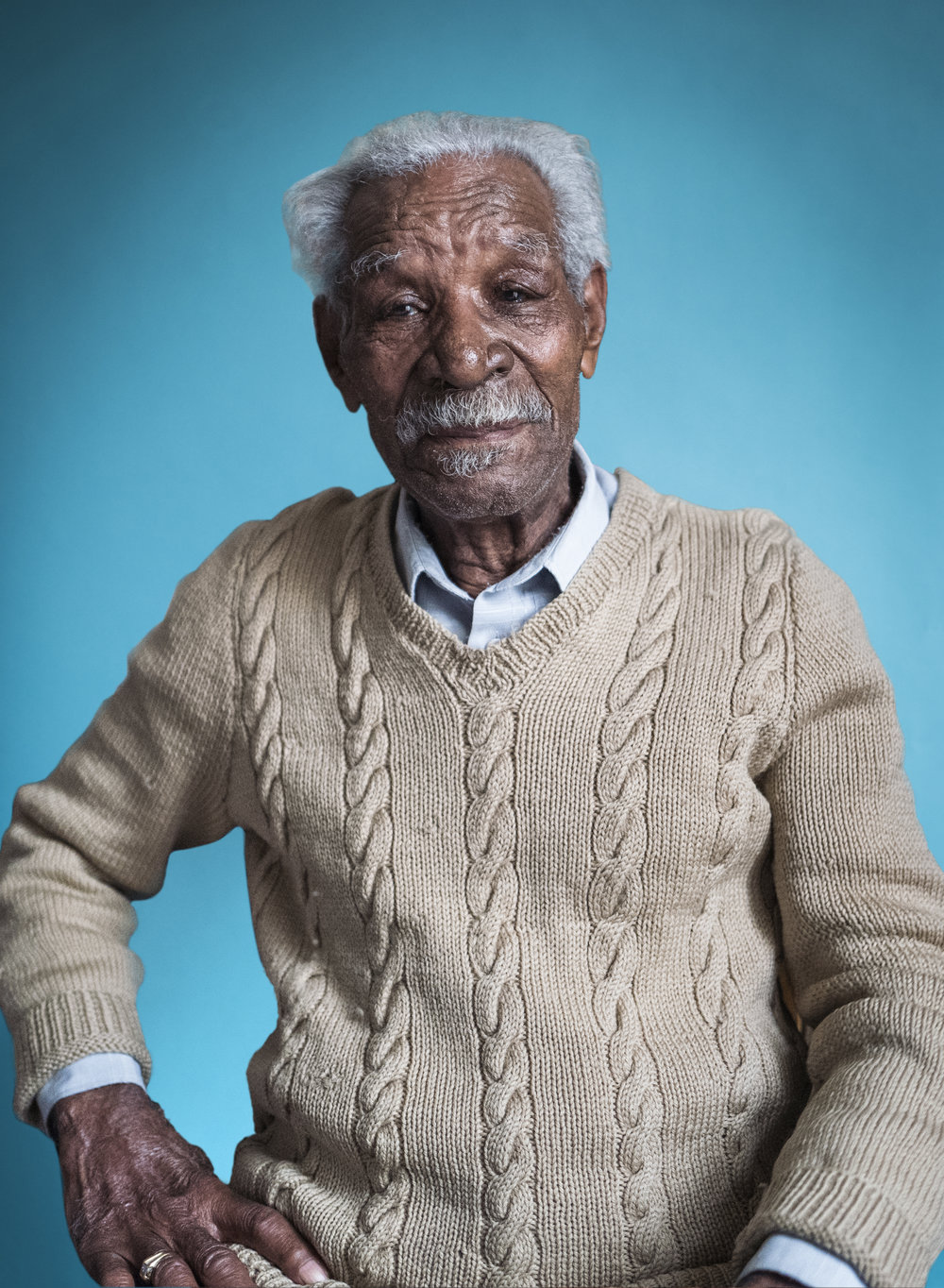 Richard's story - 'At 96 my life is in thirds...a third in Jamaica...two-thirds here.  Do I feel Jamaican?  Well I was born in Jamaica...but the Jamaican part has long gone.'