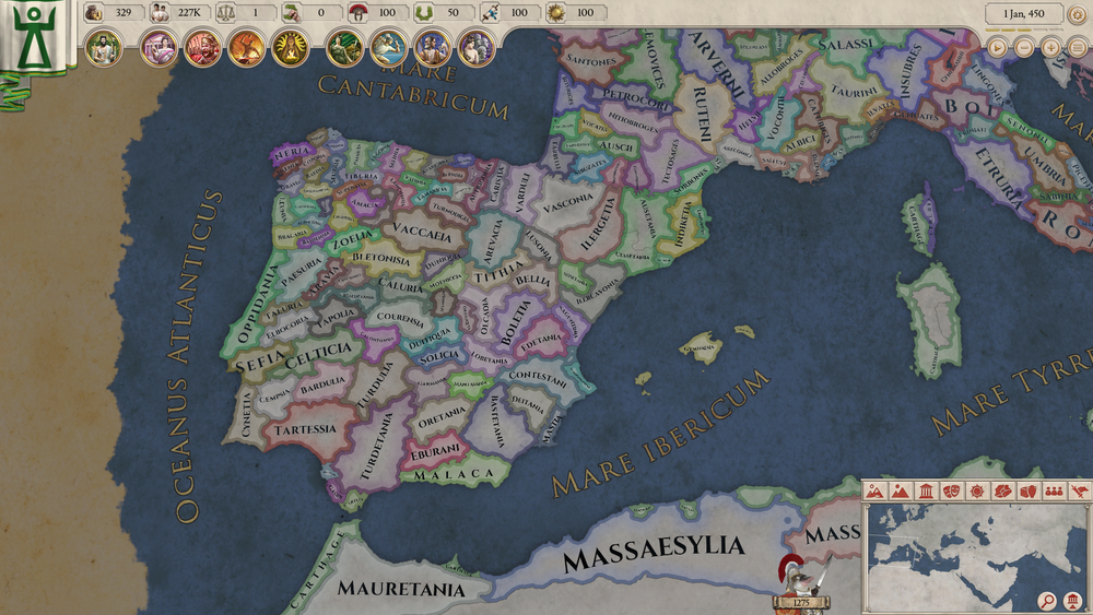 No, you don't just get to play as the Romans. The Iberian Peninsular has a vast amount of tiny states vying for glory.