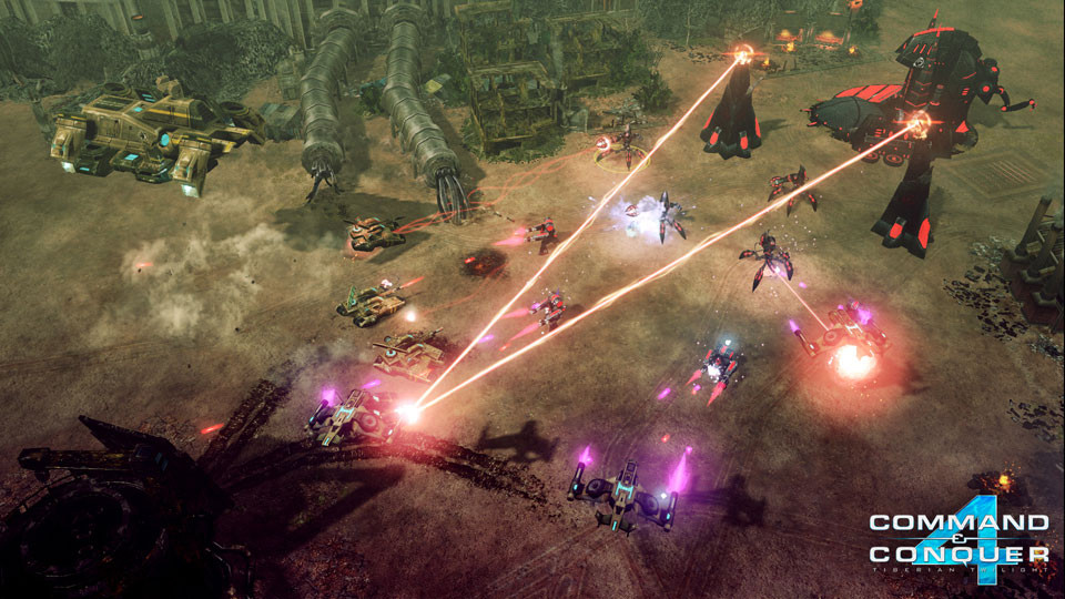 "The ""large"" armies clashing in Command & Conquer 4."