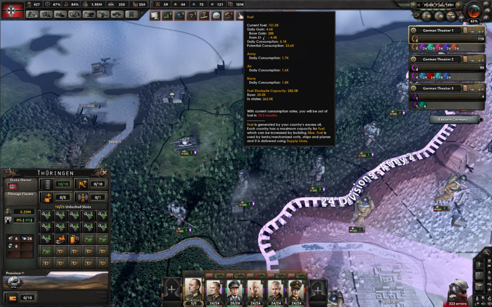 Fuel will be consumed as your army moves. This is going to be a massive change to the way we play Hearts of Iron IV.