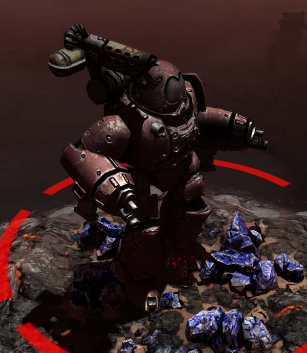 Kastelan Robots - Avoid them like the plague. These monstrous robots won't cause much damage from afar, but if they get close, they can use their flamer weapon to destroy your units. They can be very aggressive so take note if you notice them wandering near your army.