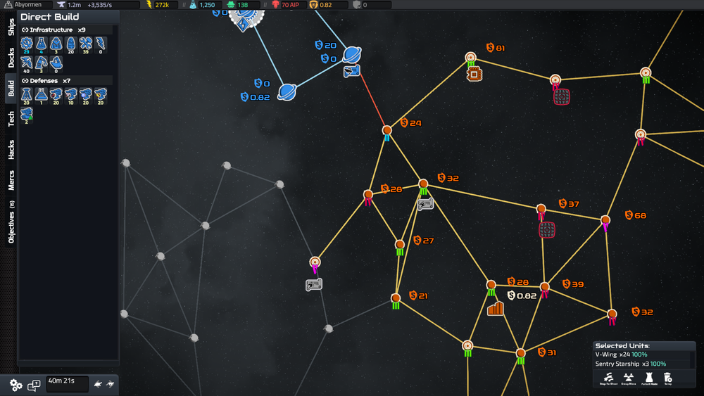 The strategic layer could do with a lot more information and real time feedback on fleet movement.