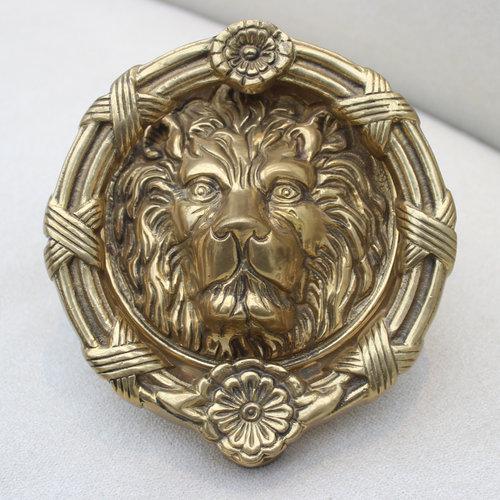Vintage Brass Lions Head Door Knocker - Vintage Brass Lions Head Door Knocker — GAZELLI SKINCARE
