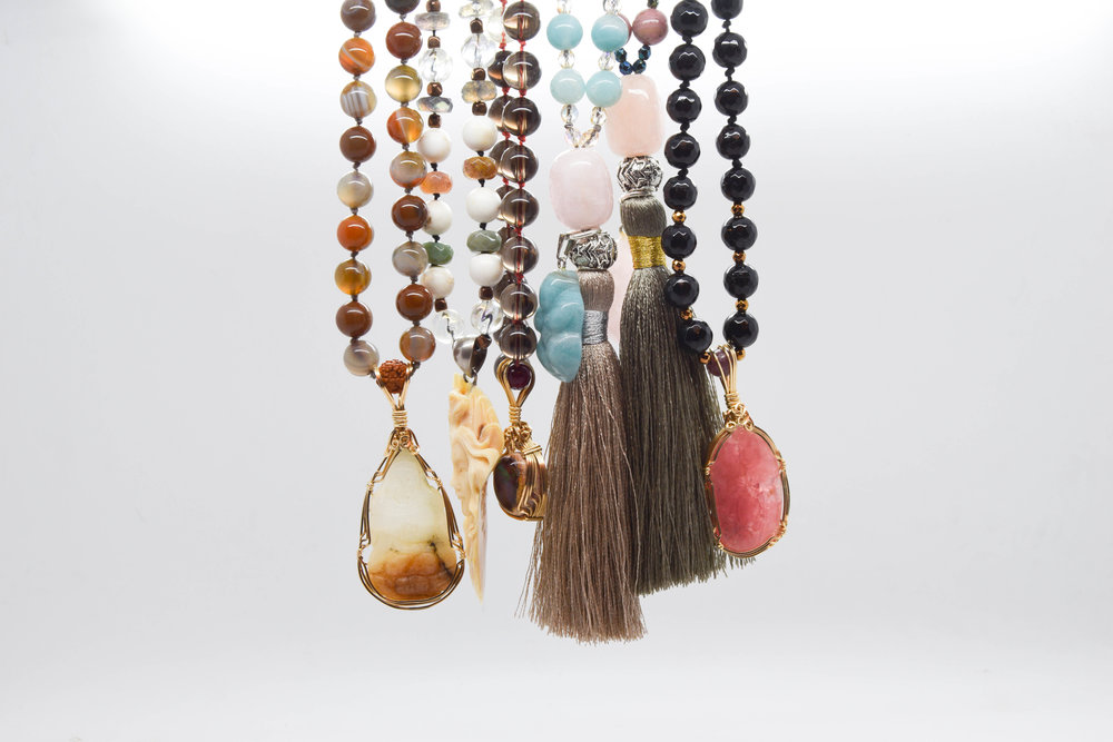 Aurora Facets Meditations Malas at Gazelli House