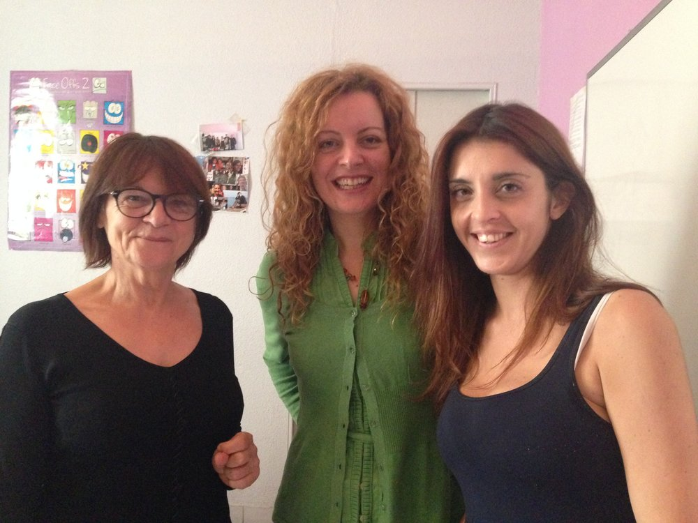Our lead trainers on the left, Francoise and Claire