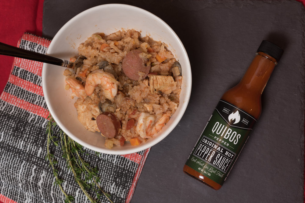 Quibos Pepper Sauce Instant Pot Jambalaya  - The quick and easy, yet full of flavor jambalaya!