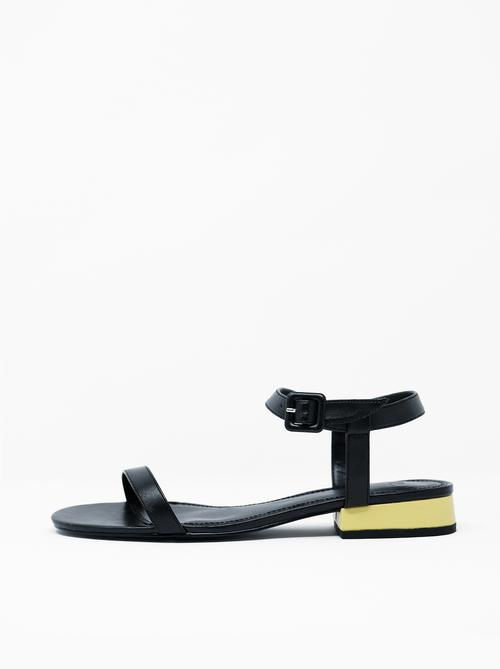 Jane | Neon - $115These classic sandals have a modern twist with color blocking yellow in the heel, just subtle enough to make these a keepsake style.