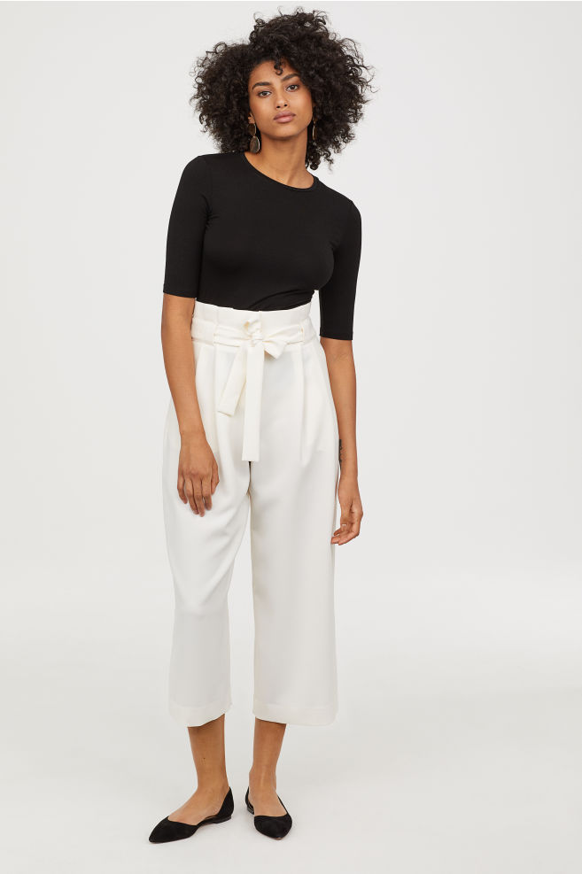the pants - Wide-cut Pants | H&M