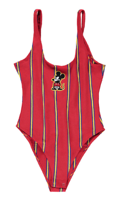 Mickey Mouse Patch Stripe Bodysuit - $22.90