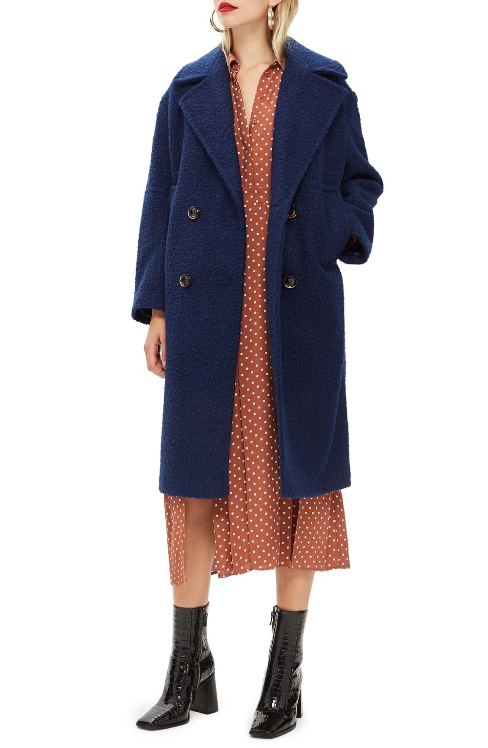 Bouclé Button Front Coat - $150 | Vegan Coat