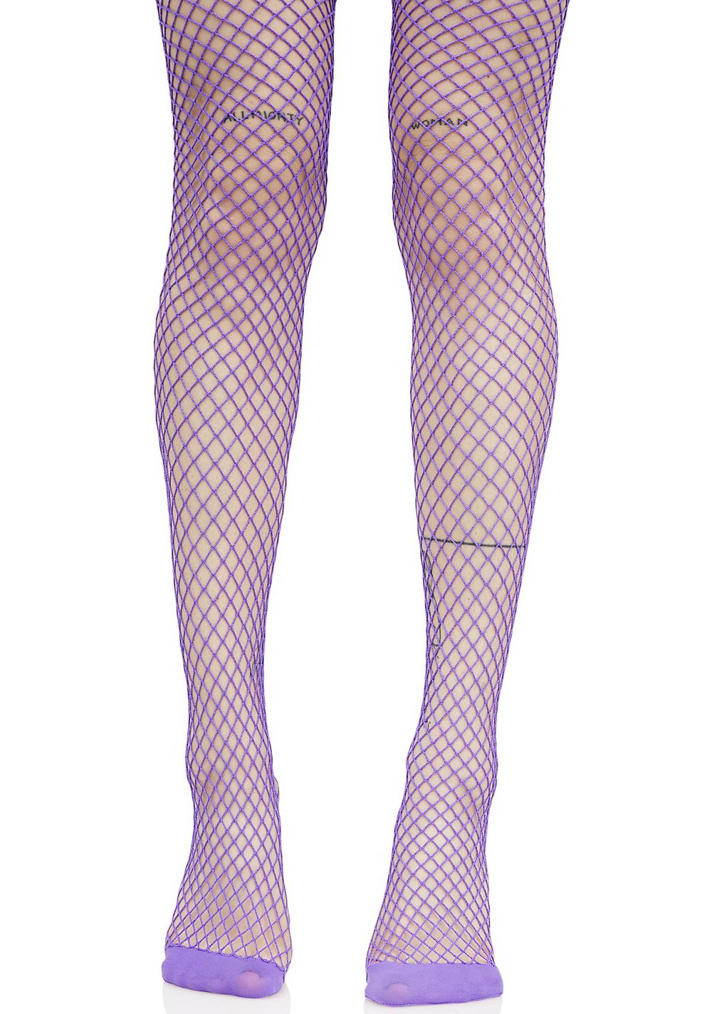 VIOLET BOLD MOVE FISHNET TIGHTS - $8
