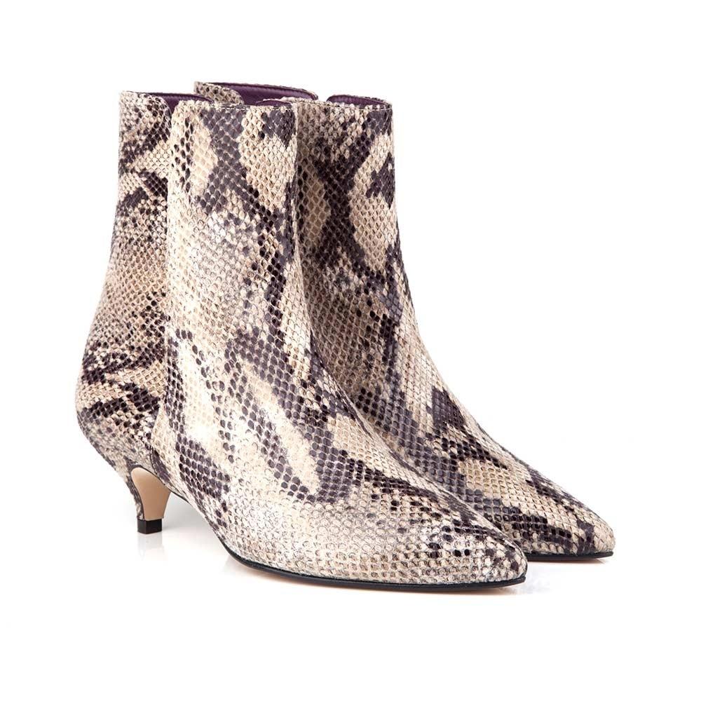 Lulu Faux Snake Skin Boots - $270 | 100% Vegan Beyond Skin