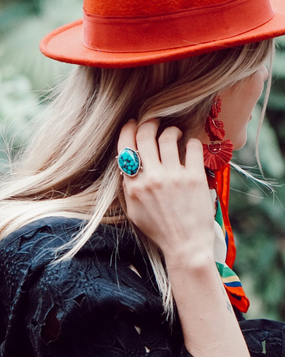 Over-Sized Turquoise Ring - $355 | Handmade