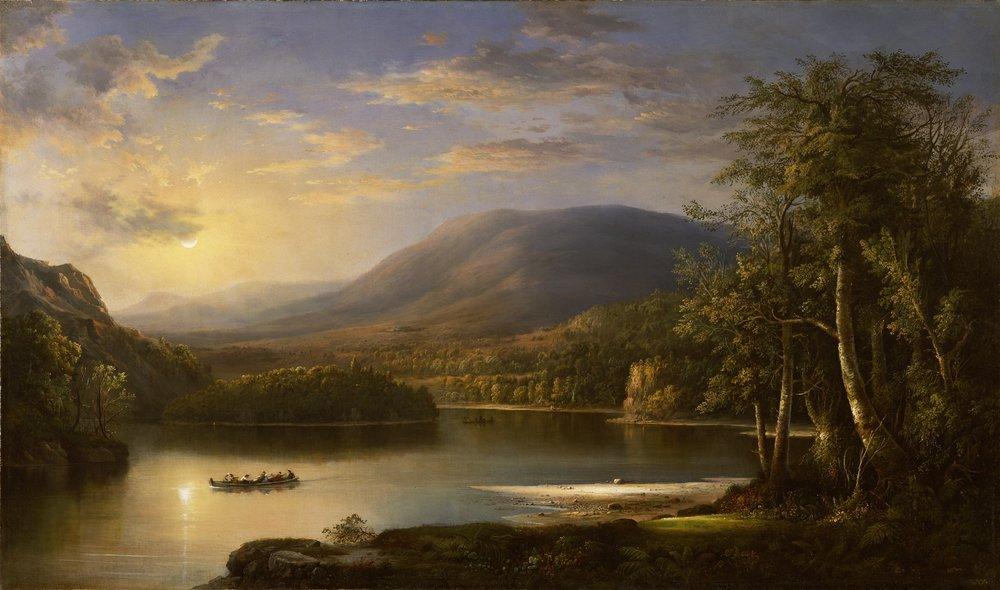 Robert S Duncanson,  Ellen's Isle, Loch Katrin,  1871, Detroit Institute of Art