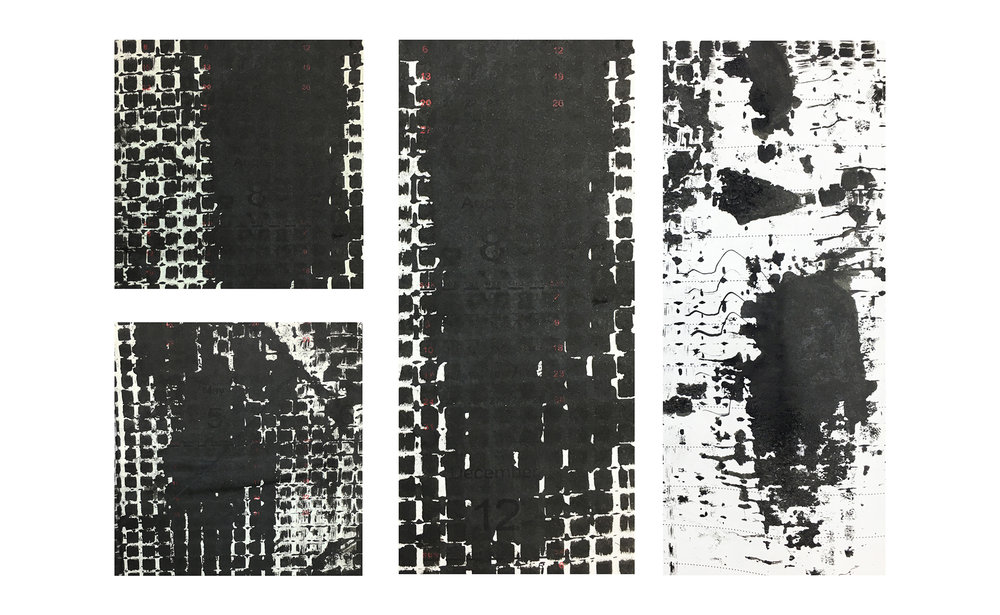 Notebook, 2015, rubbing, 4 x 8 inches ( Detail views)