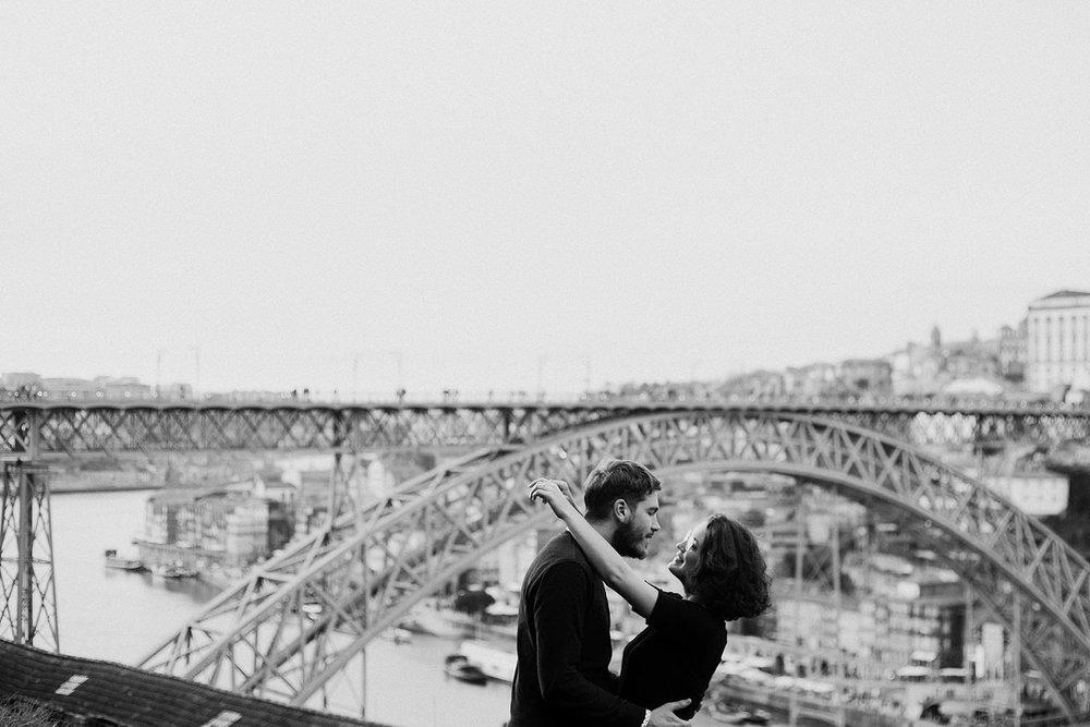 Sessão de noivado no Porto