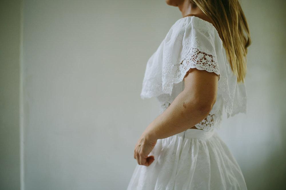 Fotografia da preparação da noiva