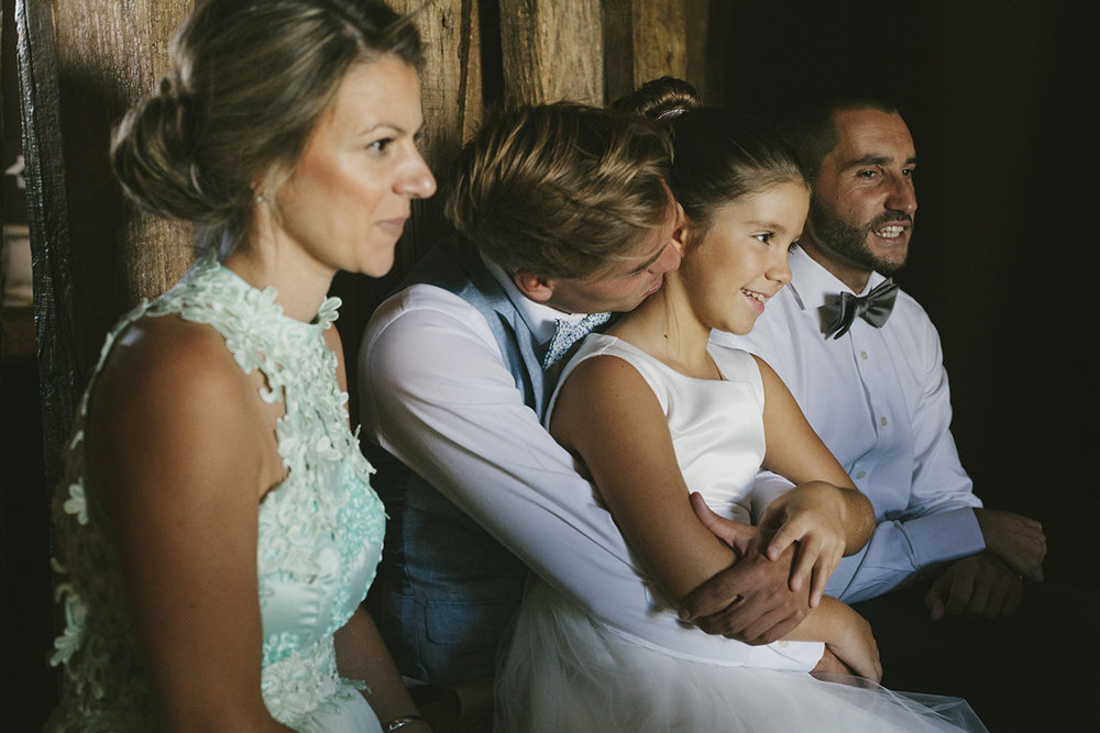 Groom and his family before the wedding