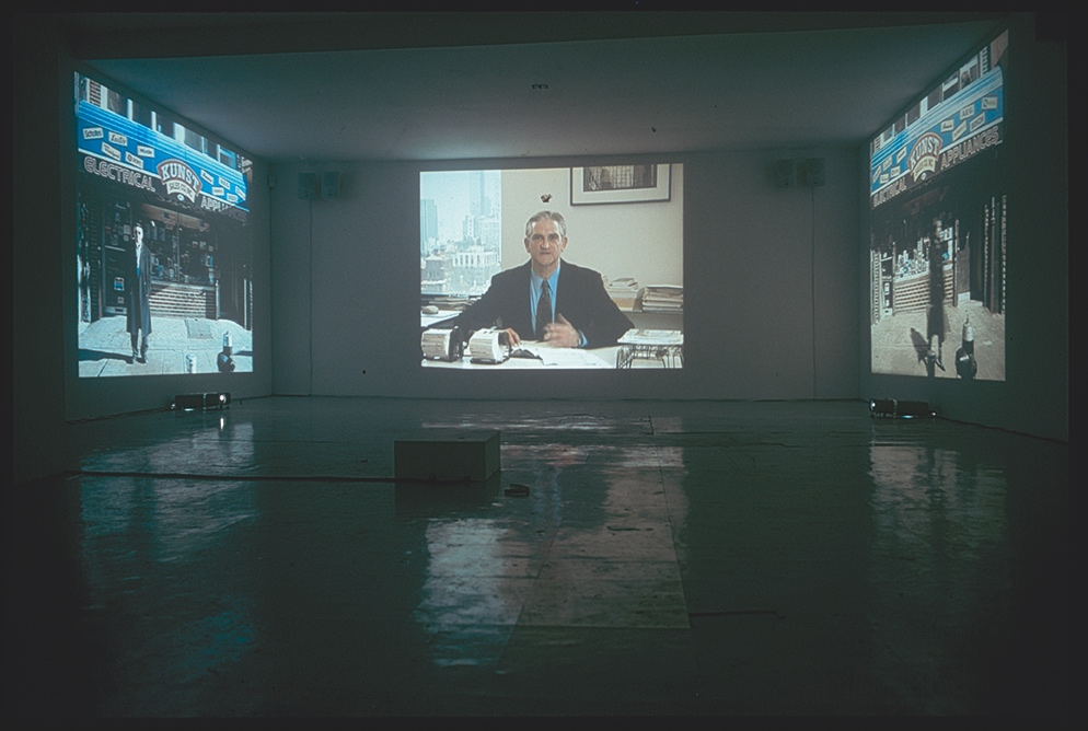 Christian Jankowski.  Point of Sale , 2002. Installation view, Maccarone Inc., New York