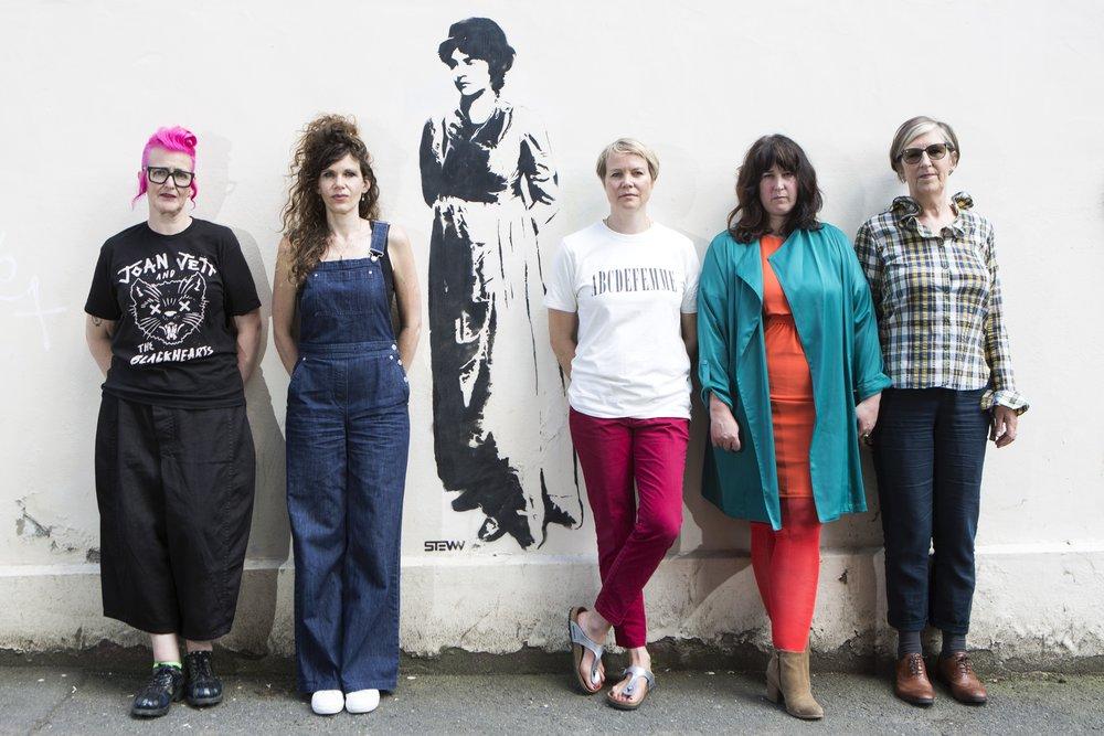Rachael House, Hannah Dawson, Jemima Burrill, Tamsyn Challenger and Anna Birch. Newington Green Meeting House. 2 June 2018.   Photo: @GeorgeTorode