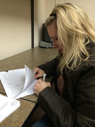 me signing