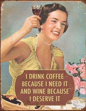 wine and coffee