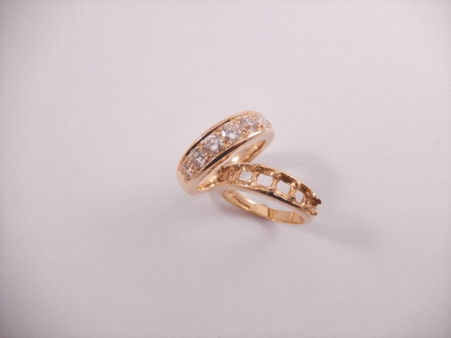 Beautiful re worked ring. Before and after.
