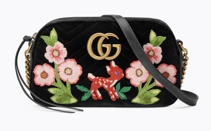 2. Gucci Marmont velvet shoulder bag £1330.00 available to buy from    www.gucci.com/uk