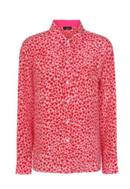 1. Mercy Delta Goodwood Hearts Primrose Silk Shirt £230 in sizes XS - L available to purchase from    www.mercydelta.com
